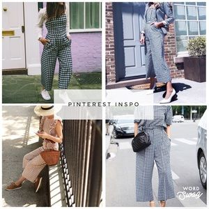 a9cf32fb02 Love + Harmony Pants - Anthropologie- Love + Harmony Gingham Jumpsuit
